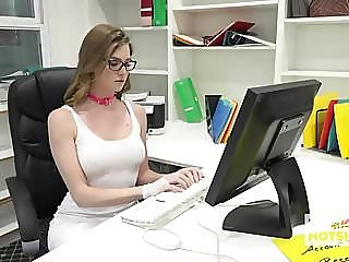 Gorgeous Office Whore Gets..