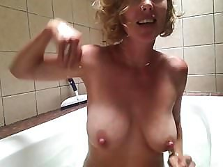 Very nice milf in bath