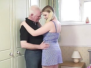 Oldman fucks young blonde in..