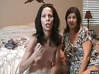 Crazy wife with cum hungry mom