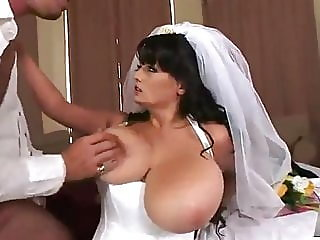 What a beautiful busty bride