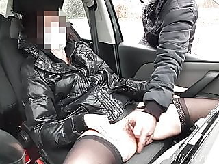 Dogging wife in public..