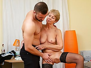 MATURE4K. Woman is old but..