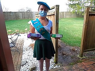 Teen Girl Scout gets..