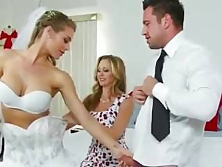 Bride and Mom Threesome..