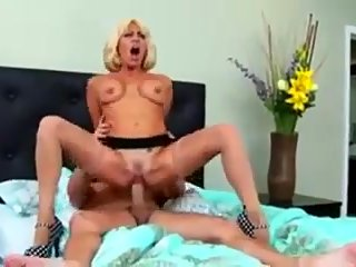 Who is the blonde hot milf?