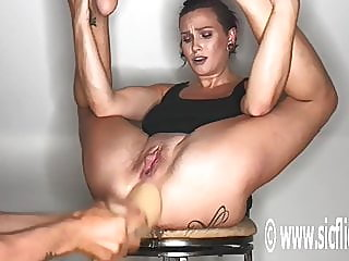 Colossal Anal Dildo Fucked..