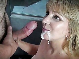 Mom Gets A Huge Thick Facial..