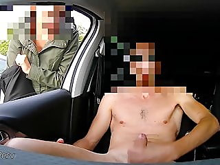 Total naked wank in car with..