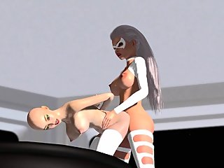 Hot alien dickgirl plays..