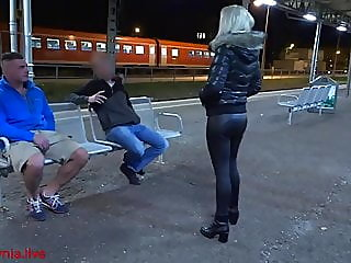 Public threesome with Double..