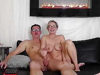 Sexy couple filming sex on..