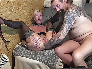 Mature blonde gets her..